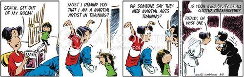 martial artists cartoon
