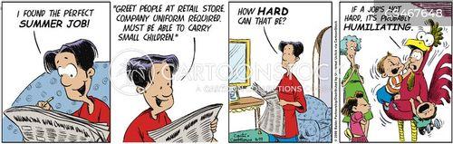 difficult job cartoon