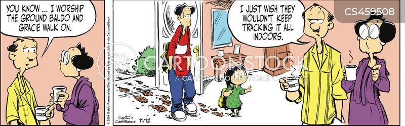 Tracking In Mud Cartoons and Comics - funny pictures from CartoonStock
