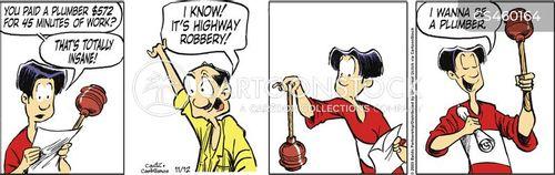 highway robbery cartoon