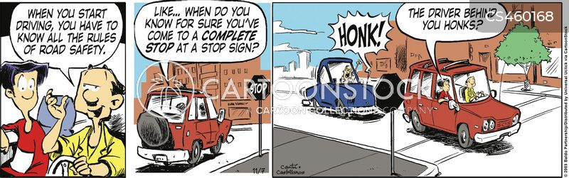 rules of the road cartoon