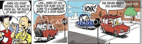 honking cartoon