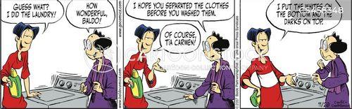 wash clothes cartoon
