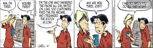 answer phones cartoon