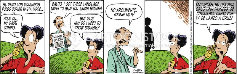 learns spanish cartoon