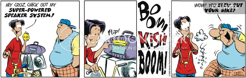 boom boxes cartoon