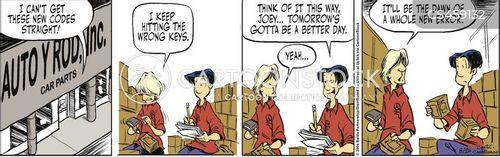 stockroom cartoon