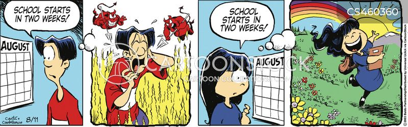 going back to school cartoon