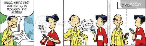 texting plan cartoon