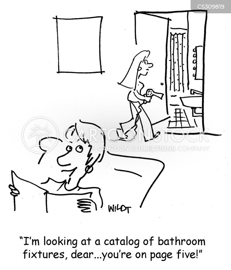 bathroom fixtures cartoon