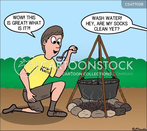 survival skills cartoon