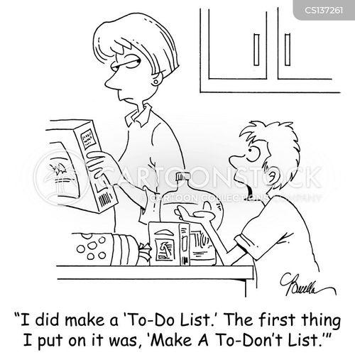 to-do-lists cartoon