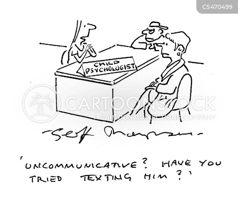 uncommunicative cartoon