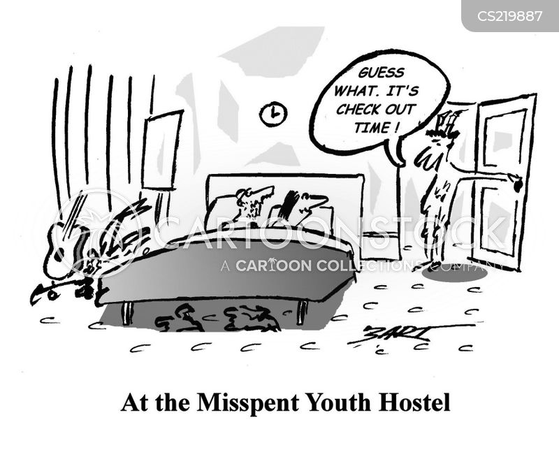 hostel cartoon