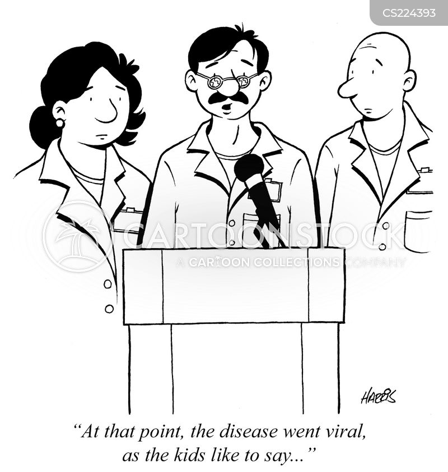 going viral cartoon