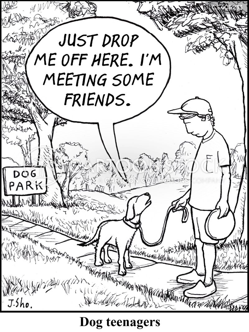 dog teenagers cartoon