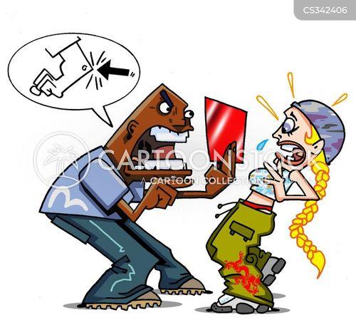 elbowing cartoon