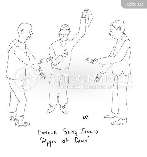 dueller cartoon
