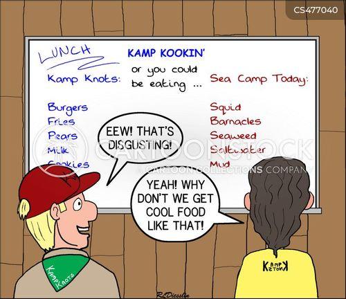camp food cartoon