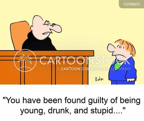 driving drunk cartoon