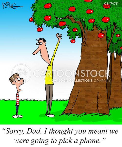 fruit picker cartoon