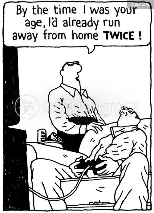 running away from home cartoon