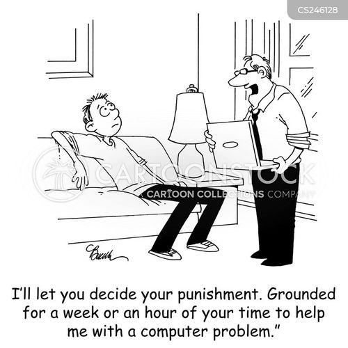 troubleshoot cartoon