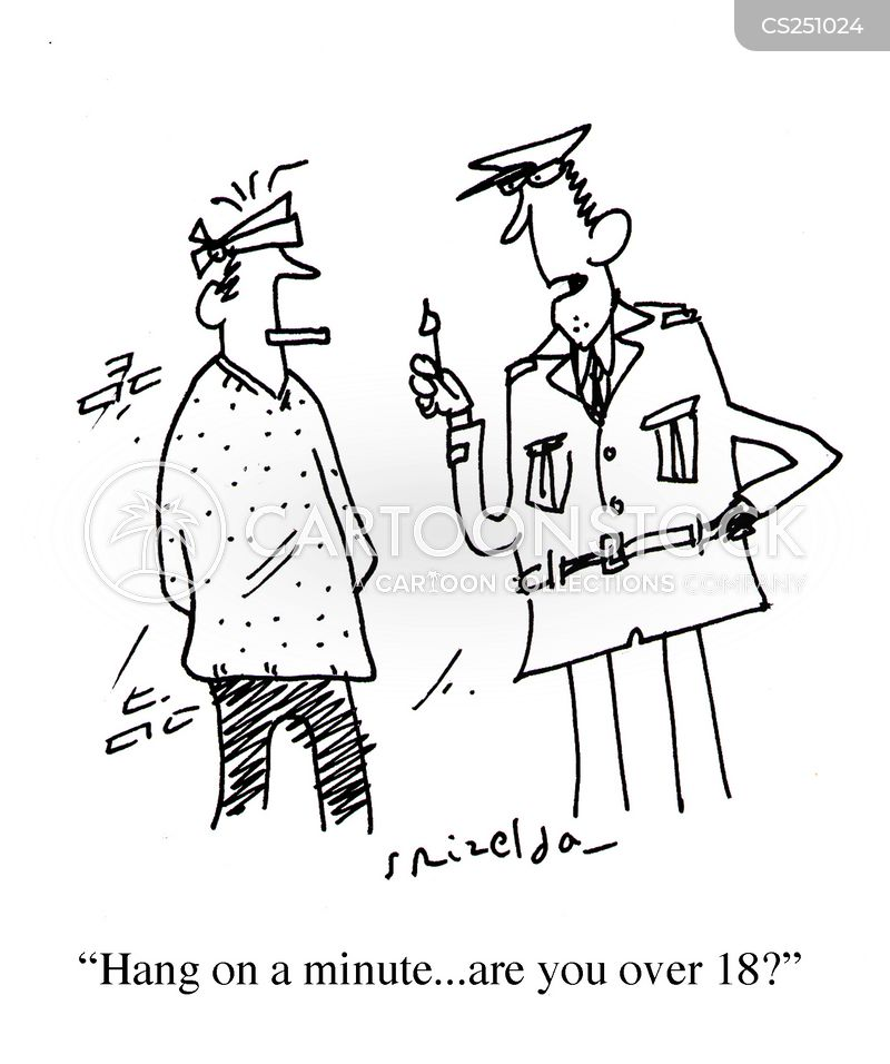 smoking age cartoon