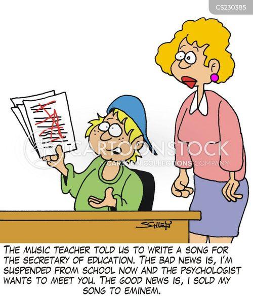 write song cartoon