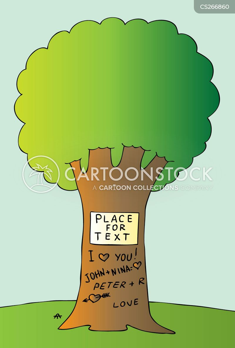 tree trunks cartoon