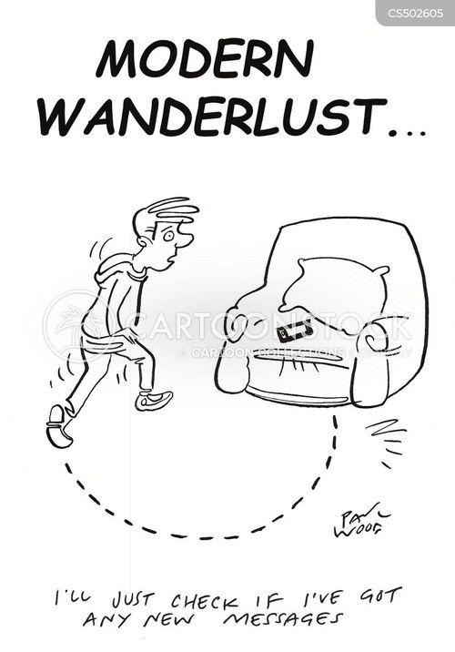wanderlust cartoon