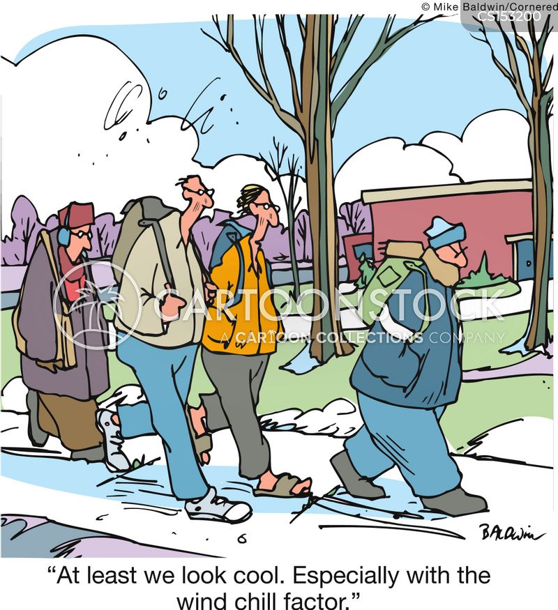 winter coats cartoon