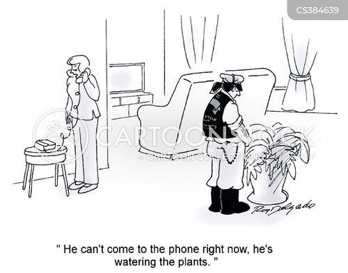 telephoning cartoon