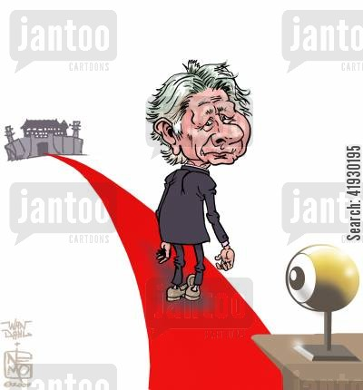 film director cartoon humor: Roman Polanski