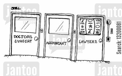 attourney cartoon humor: Lawyers' Lottery