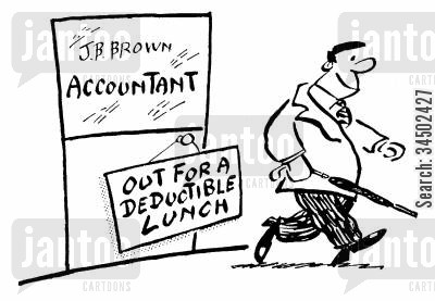 precision cartoon humor: Out for A Deductible Lunch
