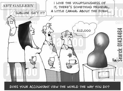 number crunching cartoon humor: Does your accountant view the world the way you do?