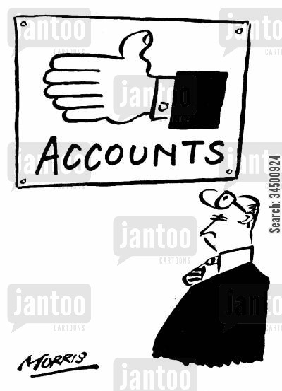 enumerate cartoon humor: Innumerate accounts department
