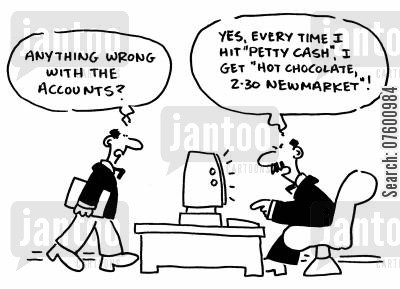 finance department cartoon humor: Accounting department