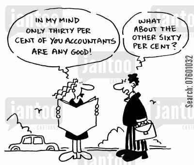 inefficiency cartoon humor: Bad accountants