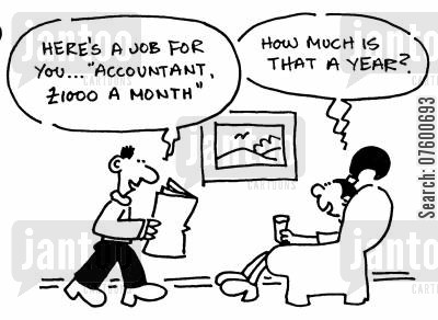 accounting cartoon humor: Accountant job