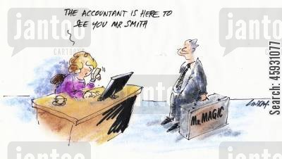 cook the books cartoon humor: A accountant is here to see you...