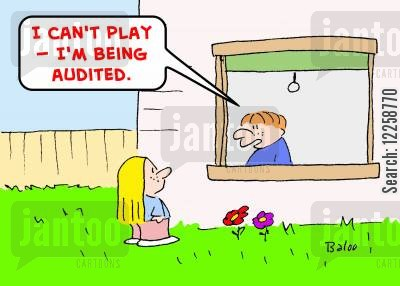 out to play cartoon humor: 'I can't play -- I'm being audited.'