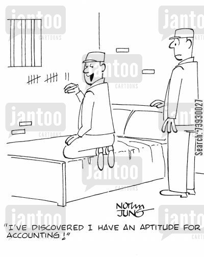 aptitude cartoon humor: 'I've discovered I have an aptitude for accounting!'
