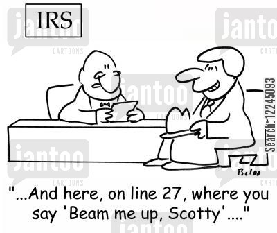 beam me up scotty cartoon humor: '...And here, on line 27, where you say 'Beam me up, Scotty'....'