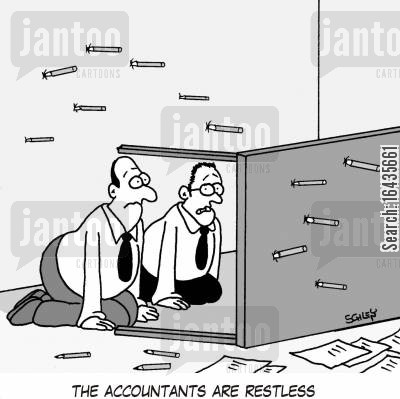 the natives are restless cartoon humor: The accountants are restless...