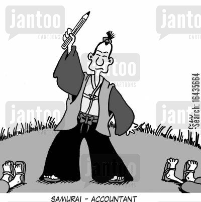 samuri cartoon humor: Samurai - Accountant.