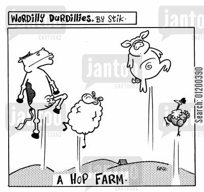 hop farms cartoon humor: Wordilly Durdillies - A Hop Farm