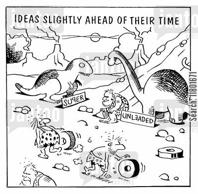 looking ahead cartoon humor: Ideas Ahead of their Time