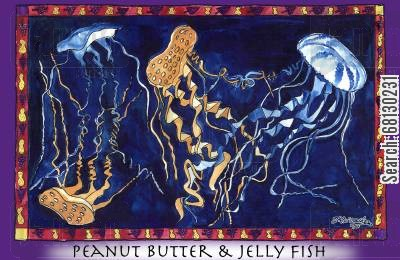 jelly fish cartoon humor: Peanut Butter & Jelly Fish.